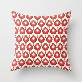 Drops Retro Pink Throw Pillow