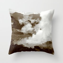 Sleeping volcano Throw Pillow