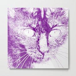 Fluffy's eyes drawing, purple Metal Print