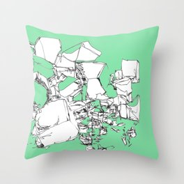Mint Chocolate Throw Pillow