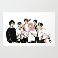 kuroko Art Prints featuring Nameless Murder Club by Vicky Newberry