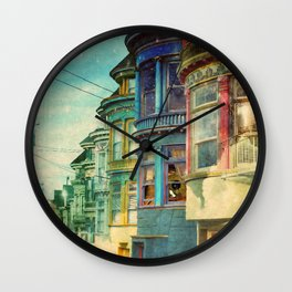 behind the window Wall Clock