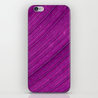 banana leaf iPhone & iPod Skins featuring purple banana leaf by blackpool