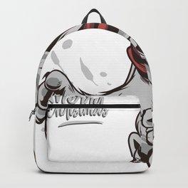 Funny christmas bear Backpack