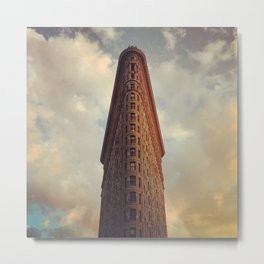 Historic New York City Flatiron Building at Sunset Metal Print
