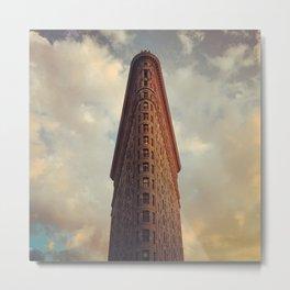Historic New York City Flatiron Building at Sunset Metal Print