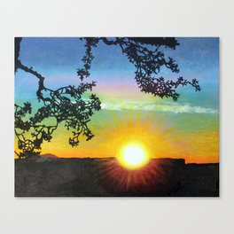 Sunset over the Grand Canyon Canvas Print
