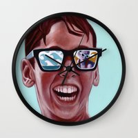 mucha Wall Clocks featuring This Magic Moment by Jared Yamahata