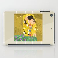gustav klimt iPad Cases featuring The Kiss (Lovers) by Gustav Klimt  by Alapapaju