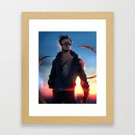 Glitch Cryaotic Framed Art Print
