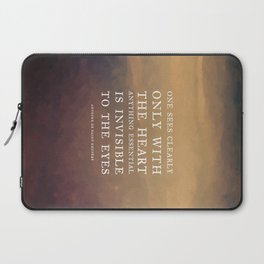 IV. Anything essential is invisible to the eyes. Laptop Sleeve