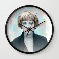 90s Wall Clocks featuring 90s drew by lanabeebear