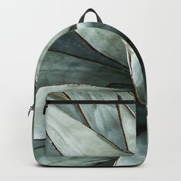 Botanical Succulents // Dusty Blue Green Desert Cactus High Quality Photograph Backpack