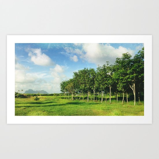Serene Breeze Art Print