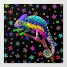 Chameleon Fantasy Rainbow Colors Canvas Print