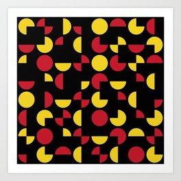 Mid Century Geometric Pattern II Art Print