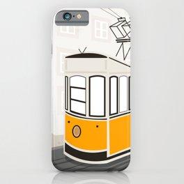 Lisbon, Portugal, Tram, Funicular, Ascensor da Bica iPhone Case