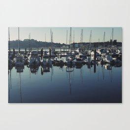 A Pobra harbour Canvas Print