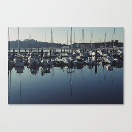 A Pobra harbour Canvas Print
