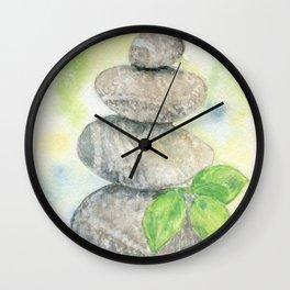 Balanced stones Wall Clock