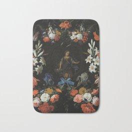 Abraham Mignon - Garland of Flowers (1675) Bath Mat