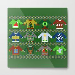 The Ugly 'Ugly Christmas Sweaters' Sweater Design Metal Print