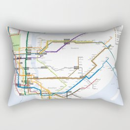 New York Subway Map Rectangular Pillow