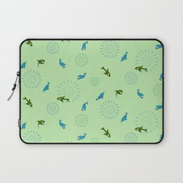Green Orca and Dolphin Laptop Sleeve