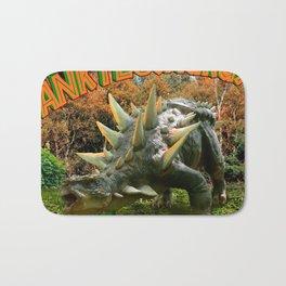 Ankylosaurus Dinosaur Park Vegetation and  Volcano Bath Mat