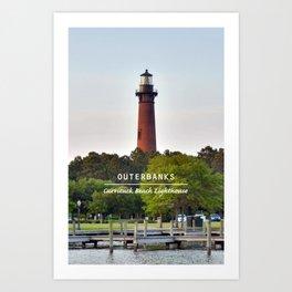 Currituck Beach Light - Outer Banks - North Carolina. Art Print