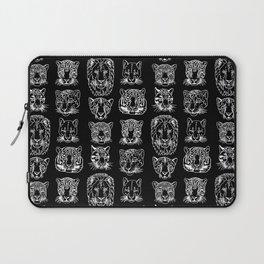 Kickass Kitties - white on black Laptop Sleeve