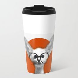 Fennec Fox wearing glasses Travel Mug