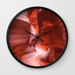 Path of Light - The Beauty of Antelope Canyon in Arizona Wall Clock
