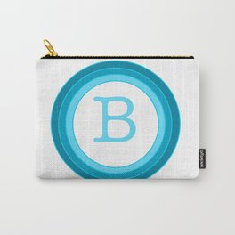 Blue letter B Carry-All Pouch
