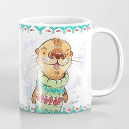 Otter in the sweater Coffee Mug