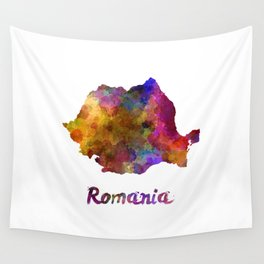 Romania in watercolor Wall Tapestry