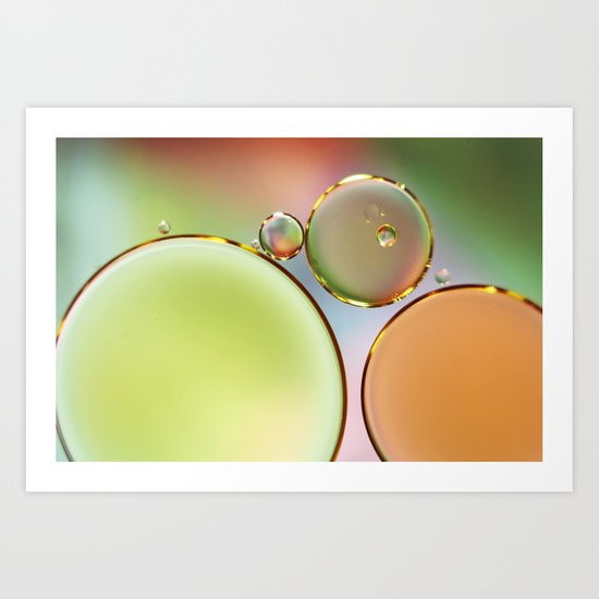 Oil On Water Edged With Gold Art Print