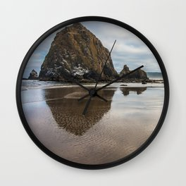 Haystack Rock II Wall Clock