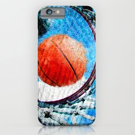 Basketball art print 166 iPhone Case
