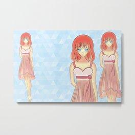 Anime Japanese Art Style Fashion Illustration Metal Print