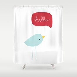 Hello Birdie Shower Curtain