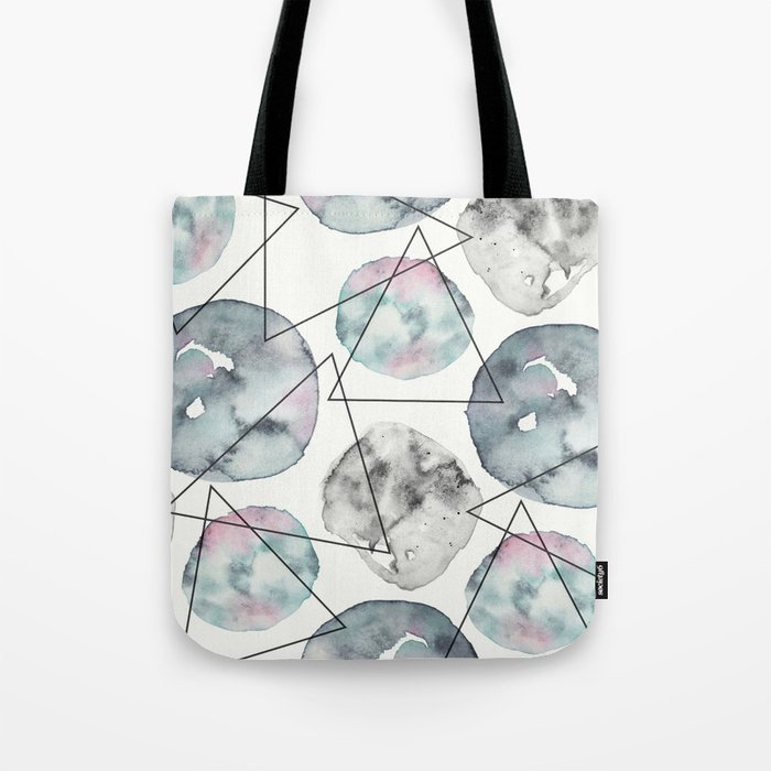 Orbiting Asteroid Pattern Tote Bag