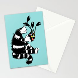 Weird Cat Character With Strange Paw Stationery Cards