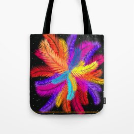Palm Fronds Explosion Tote Bag