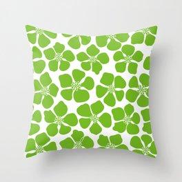 buttercup (green) Throw Pillow