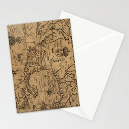 Vintage Map of Mexico (1600) Stationery Cards
