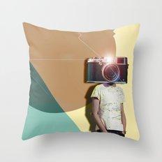 The Cameraman Throw Pillow