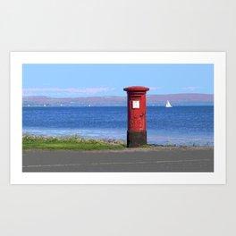 Post Box on the Isle of Bute in Scotland Art Print