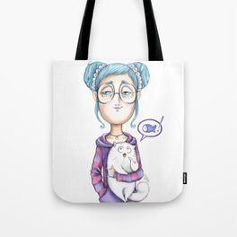 The always hungry cat Tote Bag