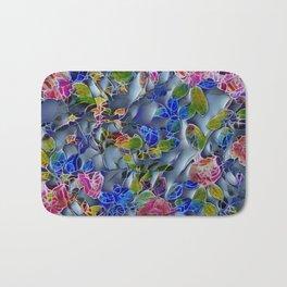 embossed floral Bath Mat